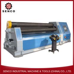 Het hydraulische Vouwen van de Plaat van het Metaal van de Machine van het Broodje van 4 Rol Buigende