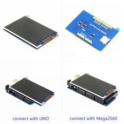 3.5인치 320X480 Arduino Uno 및 Mega2560 LCM 디스플레이 8비트 병렬 인터페이스 옵션 저항성 터치 스크린