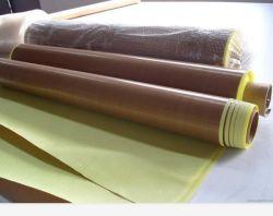 Bestes Glasfaser-Gewebe der Preisbrown-Farben-0.13mm Anti-Haftendes überzogenes der Oberflächen-PTFE