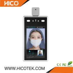 Reconhecimento Facial Hico câmara térmica Attendence Leitor de cartões de identificação de triagem de temperatura