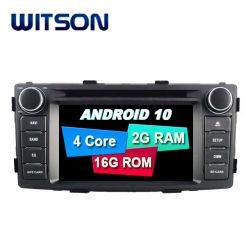 Auto Navi Radio des Witson Android-10 für Fahrzeug Toyota-Hilux Audio-Multimedia 2012 GPS-BT Google WiFi