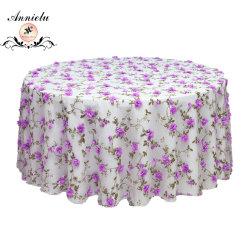 Table en organza Chiffon de mariage en mousseline nappe Overaly floraux Table