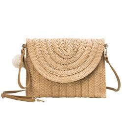 [بومبم] سترو قابض نساء [كروسبودي] يدويّو حقيبة نساء ورقة سترو حقيبة مع ماسل