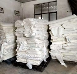 Tela de Rayon gris blanco para ropa de fábrica