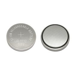Lir2032 3.6Volts 40mAh recarregável de lítio célula de botão com Abas Soldadas