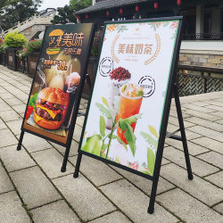 포스터 금속 두 배 측 표시 대를 광고하는 직접 공장 슈퍼마켓