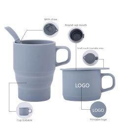 Großhandels-FDA Nahrungsmittelgrad Collapaible Qualitäts-Silikon-Wein-Cup