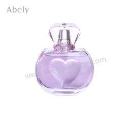 Frascos de perfume narrados 50ml em forma de coração vaso de perfume de vidro elegante portátil