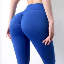 """2021 Las mujeres"""" de verano Deportes al aire libre de desnudos ropa Fitness mallas estirar la ejecución de durazno Casual pantalones de yoga Alto de Cintura Cadera"""