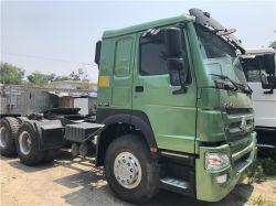 중국 직접 판매 공급업체 35톤 371HP 10 Wheeler 6X4 Sinotruck HOWO 중고 트랙터 트럭 헤드 재고