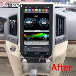 """13,3-дюймовый Tesla стиле Android 9.0 автоматической навигации GPS для Toyota земли крейсера """"LC200 2018- автомобильный радиоприемник проигрыватель видеосигнала мультимедийной системы"""