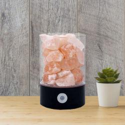 히말라야 소금 램프 자연적인 분홍색 수정같은 소금 LED 밤 빛