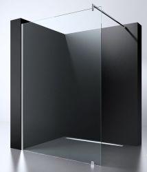 Ванная комната дешевые 8мм 10мм стеклянной душевой кабинкой черного цвета на экране