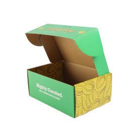 De uitstekende kwaliteit Aangepaste het Afdrukken Verpakking van het Karton van de Doos van Eco Vriendschappelijke Bruine Kraftpapier van het Embleem