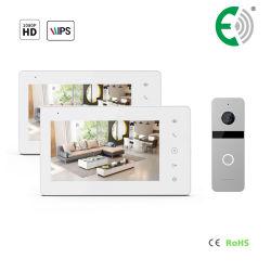 """Video Doorphone di obbligazione domestica di memoria del Interphone dello schermo di tocco di IPS 7 """""""