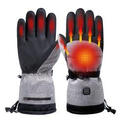 Luvas elétricas aquecidas bateria recarregável Aquecimento manual luvas de esqui