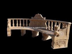 Tallado en piedra de Decoración Muebles de jardín al aire libre de tallado de mármol, banco del parque (BNH323)