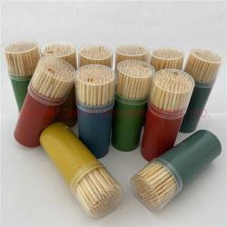 De de veelkleurige Tandenstokers van /Bamboo van de Producten van het Bamboe van het Huishouden van de Tandenstoker van de Fles Goedkopere Beschikbare/Vleespennen/Oogsten van het Fruit/Bamboe