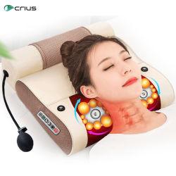 Ningde Crius C-M1 2 в 1 шиатсу плечо головки блока цилиндров задней части шеи шиатсу вибратора инфракрасный горловины мягкой поддержки поездки массаж подушка