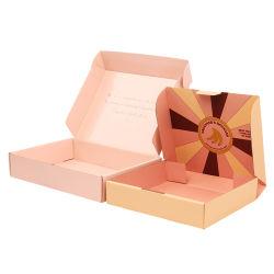 Custom Premium Color Printing Folding Pink Paperboard Golfkleding/Dessert verpakking Papieren doos voor Shopping Mail