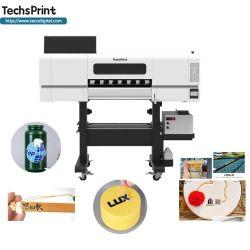 Цифровой струйный принтер для этикеток, рулон с роликом, светодиодный индикатор I3200 УФ-принтер DTF для пленки для наклейки