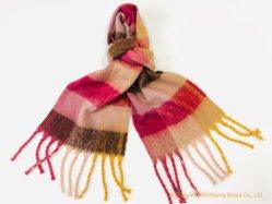 Gesponnene warmer Polyester-Schal-Plaid-langer Schal-übergrosse Zudecke