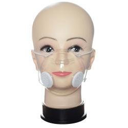 Discos laváveis para limpar a tampa de face nova concepção clara de Silicone macio máscara facial com Válvula e 10Filtros de PCS