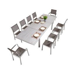 야외 가구 정원 가구 세트 - 연장 가능한 테이블과 의자