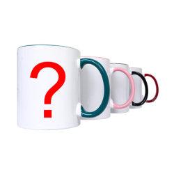 Comercio al por mayor de 11 onzas de porcelana personalizada en blanco de sublimación tazas tazas de cerámica negro Blanco sublimación Tazas tazas con Logo