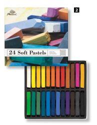Art Student Kinder Bunte Zeichnung Malen Kreide Quadrat Weiche Pastell