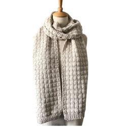 Блок трикотажные мужчин и женщин в кремовый долго Без шарфа трикотажных изделий