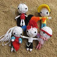 Строка ручной работы Voodoo кукол