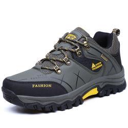 Baixa à prova de tornozelo calçado tipo alpino couro Calçado de caminhadas ao ar livre botas homens Anti Slip Botas