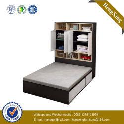 Novo produto quarto de madeira escura Estante guarda-roupa de cama Azul Crianças Beliche cama de solteiro