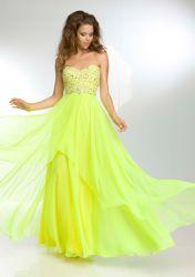 Gasa vestido de noche largo cordón posterior Keyhole Homecoming de Prom vestido de fiesta