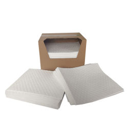 Witte meltblown absorberende materialen Sorbent Cotton Spill Cleaning Mat Oil Absorberende pad
