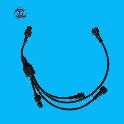 Caoutchouc avec de type F du connecteur du câble en nylon imperméable