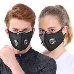 O inverno adulto o logotipo personalizado Maskes cinco camadas de tecido de carbono Face Desportivo Maskes Piscina Andar executando o algodão com válvula do filtro de poeira