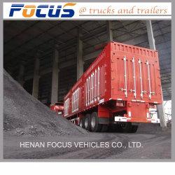 Gran capacidad 45cbm semi remolque basculante lateral para África Occidental de la Bauxita Transporte