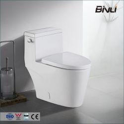 전체 스커트 디자인 화이트 원피스 이중 플러시 긴 화장실 용기 천천히 닫는 시트 포함