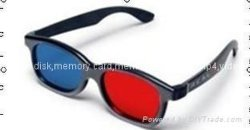 Cyan rouge en plastique des lunettes 3D