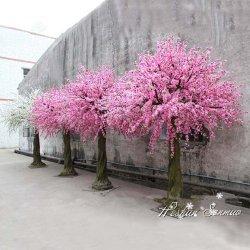 Fabricación artificial de venta directa de Flor de durazno Tree Árbol artificial para la decoración de boda