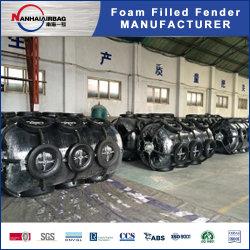 Guardabarros relleno de espuma de la mejor calidad para el transporte a bordo guardabarros relleno de espuma D Forma Fender de yate de forma redonda