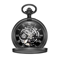 Oferta de Aniversário personalizado relógios mecânicos do esqueleto metálico de retro-chaves relógios de bolso