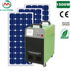 Le fournisseur d'énergie solaire des kits d'accueil Maison mobile portable avec batterie rechargeable intégrée 1,5KW