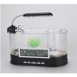 Mini-câmara transparente de peixes de vidro decorativo água vaso Vaso da Plantadeira