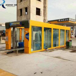 9 cepillos túnel de lavado automático de automóviles de la máquina con sistema de secado
