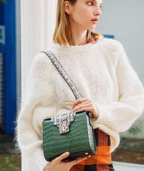 여자 진짜 가죽 어깨에 매는 가방 Python 뱀모양 핸드백 소녀를 위한 긴 결박 어깨에 매는 가방