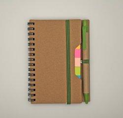 Eco-Friendly Espiral Promocionais Notebook com Ballpen reciclado