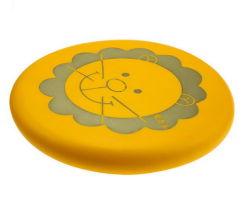 Impressão personalizada PU Frisbees Programável Material e arvorando Pires com a marca do OEM